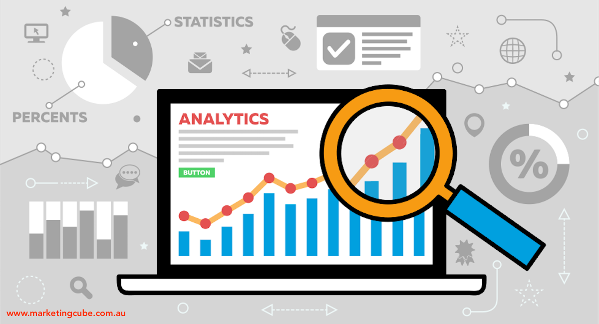 Cartoon Analytics Laptop Graphs