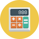 ICON 128x128pxl - calculator numbers