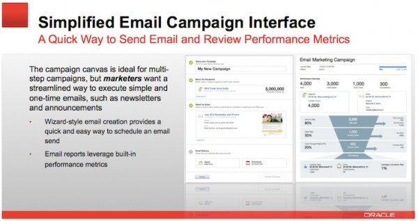 Simplified Email Campaign Interface Eloqua Summer 2014 600x318pxl