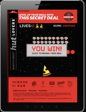 Pizza Hut iPad App Game 282x369pxl
