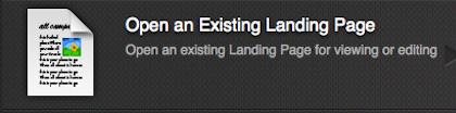 ELOQUA Open an Exisiting Landing Page 420x104pxl