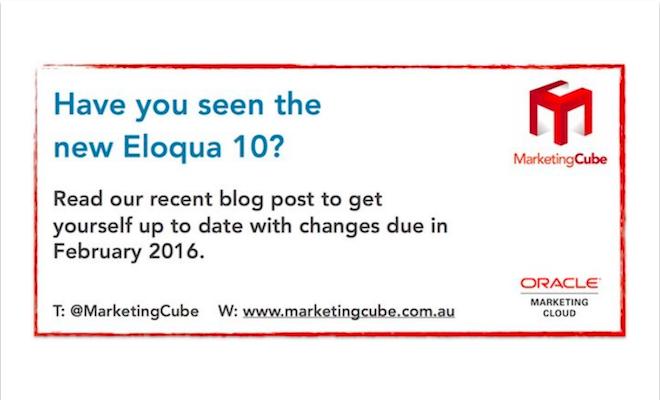 New Eloqua 10