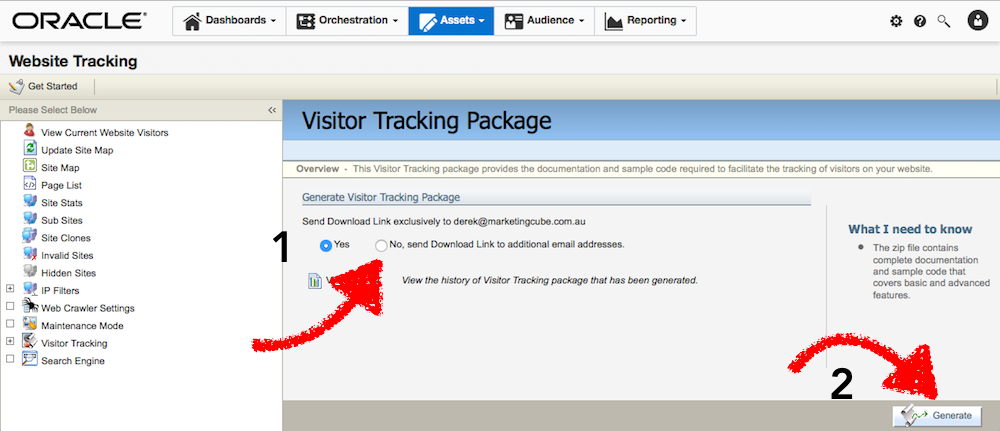 Eloqua 2016 Assets Visitor Tracking Package 1000x431pxl