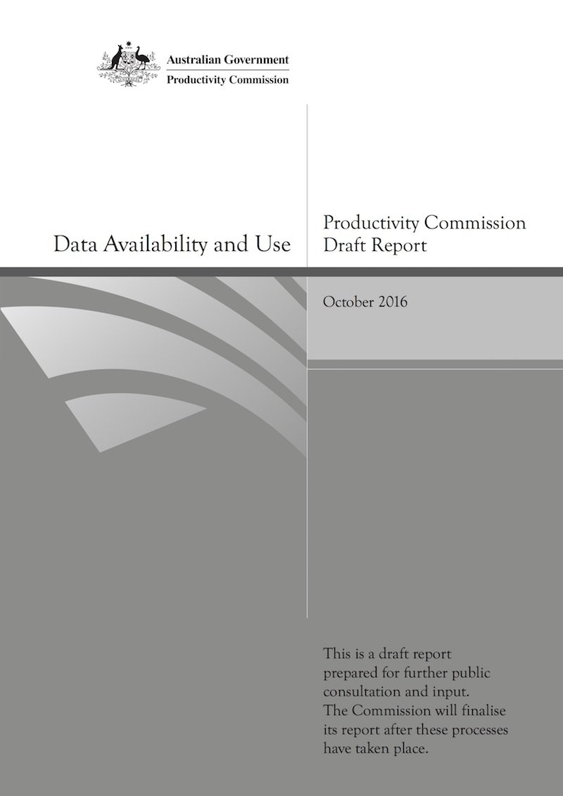 FP Data Access FULL REPORT Draft Productivity Commission Oct 2016