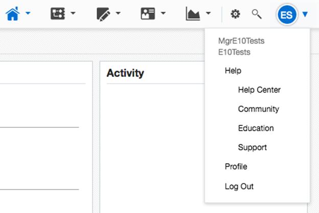 Release 491 New User Profile Menu Drop down