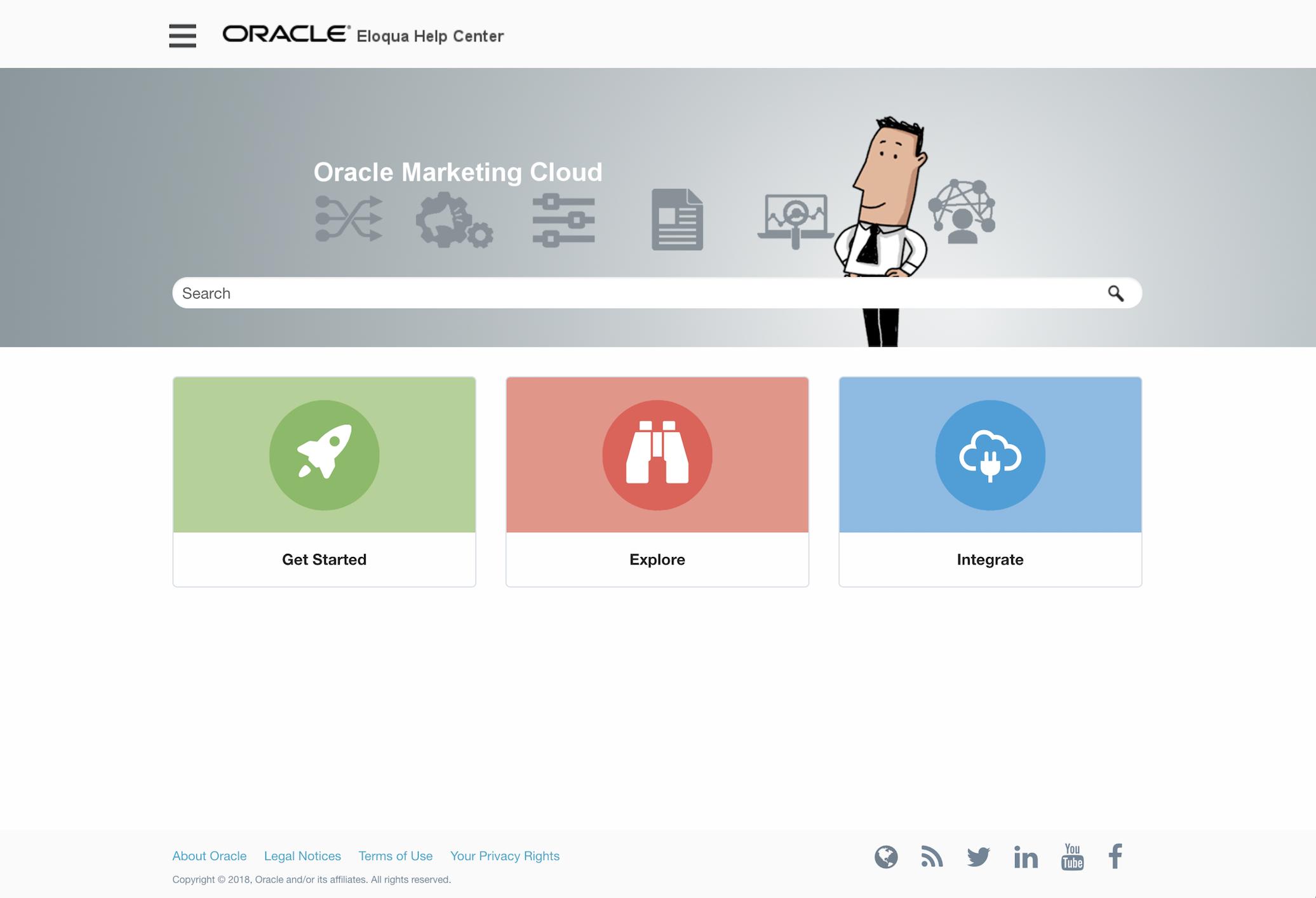 Oracle Eloqua Help Centre Home Page 2072pxl