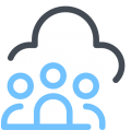 Connected Experiences icons8 cloud user group 500