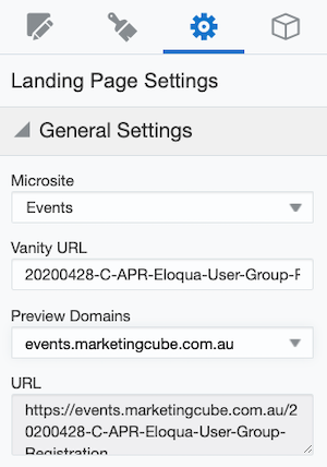 SCREENGRAB Landing page Settings Microsite 300x428