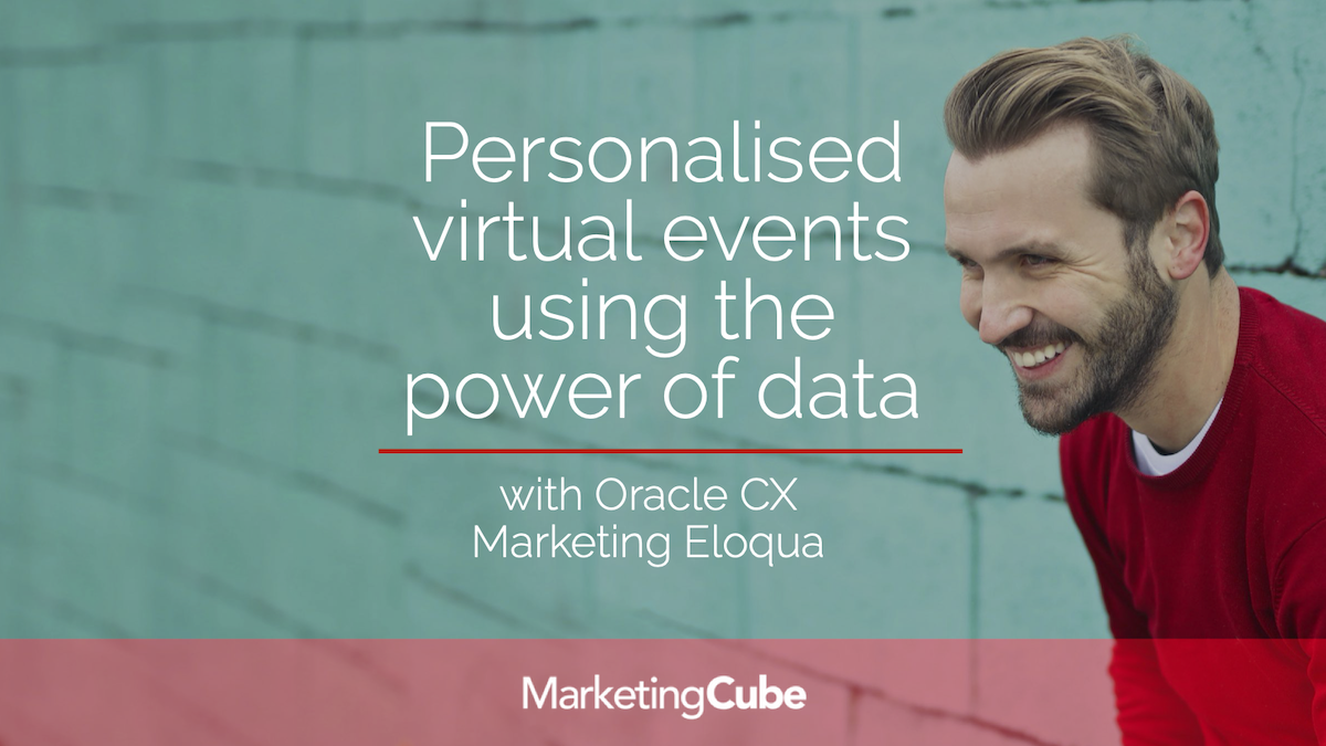 Personalised virtual events using the power of data.
