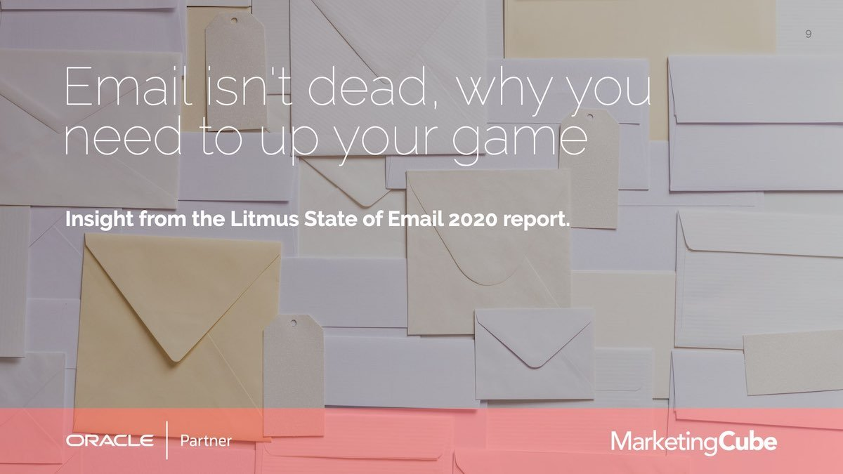 Email isn't dead, why you need to up your game.