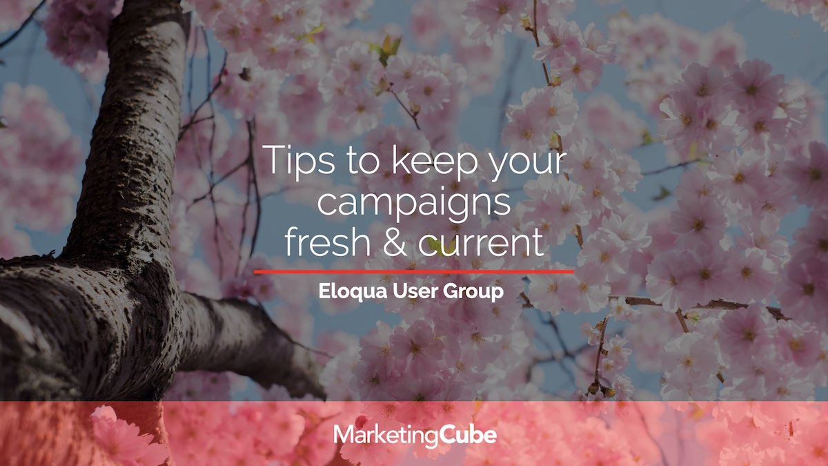 Tips to keep your Eloqua Campaigns fresh & current