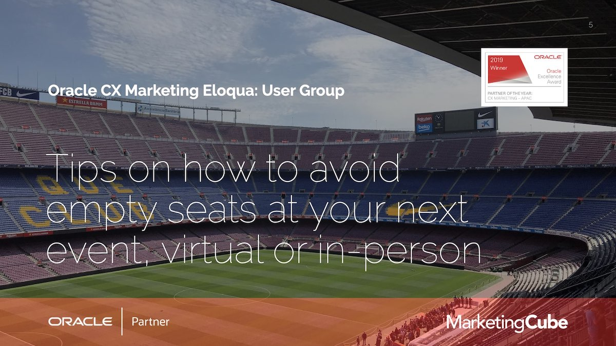 Tips on how to avoid empty seats at your next event, virtual or in-person.