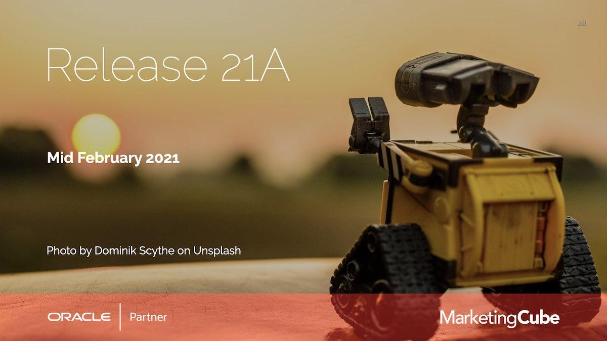 Release 21A | Eloqua User Group