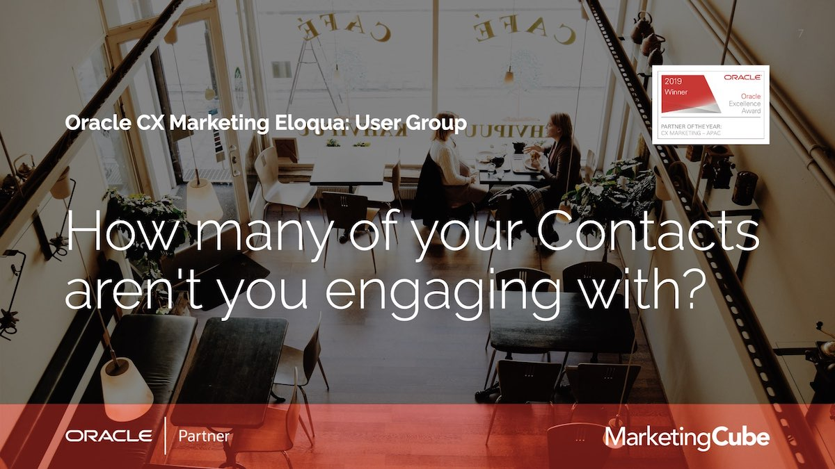 Realising that you have a group of people in your database that you're not engaging with is a reality for all marketers. Eloqua users have a range of ways to uncover this audience, re-engage them and deliver a richer Customer Experience (CX).