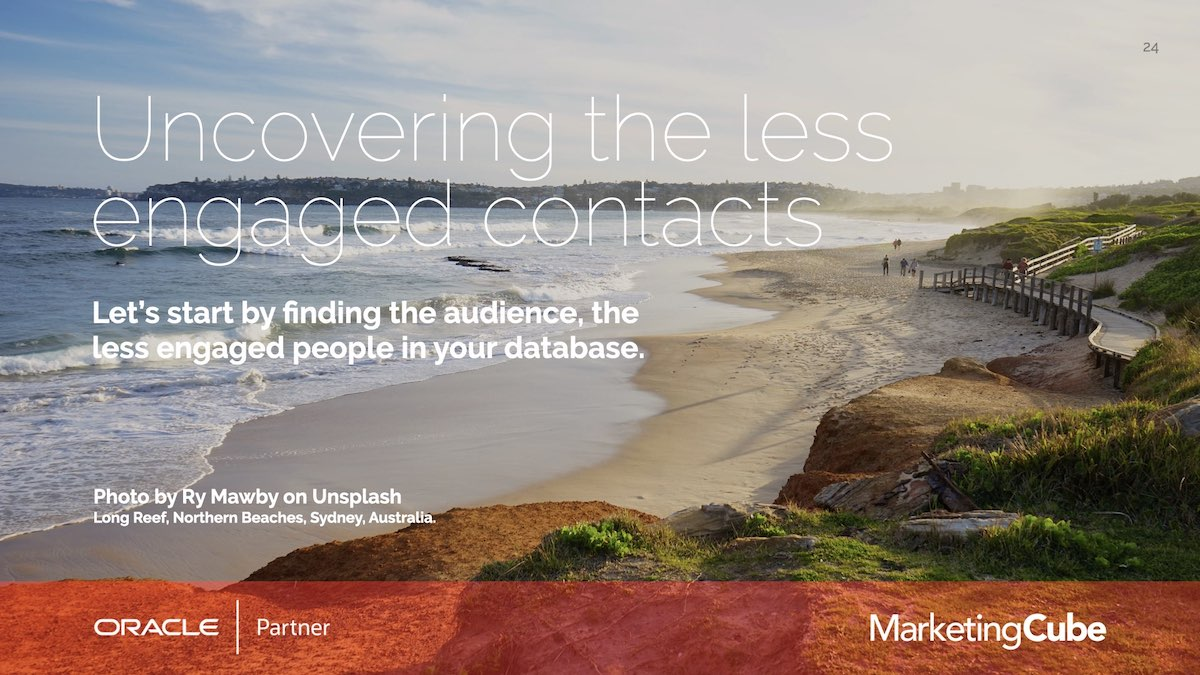 Uncovering the less engaged contacts | How many of your Eloqua Contacts aren't you engaging with? | Re-engagement Strategies for Eloqua users.