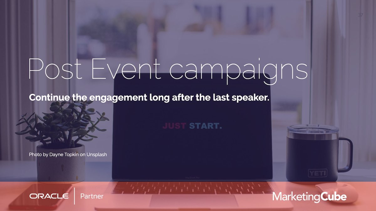 Eloqua User Group | Post Event Campaigns