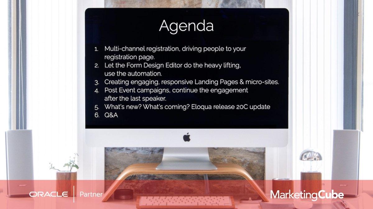 Eloqua User Group | Agenda