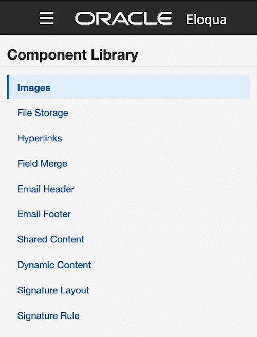 Eloqua Component Library